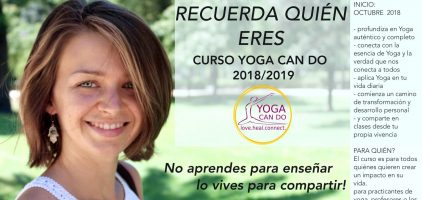 Curso formación yoga con Joanna