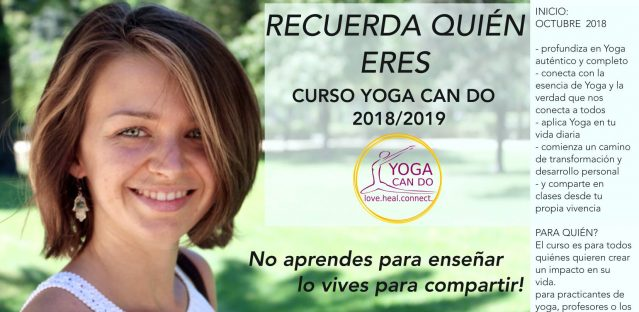 Curso formación yoga con Joanna de YOGA CAN DO
