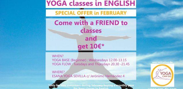 Yoga classes in English Seville