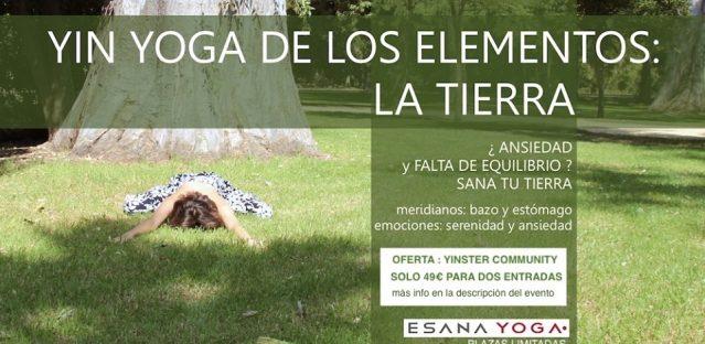 Masterclass de Yin Yoga: Elemento Tierra (MTC +Ayurveda)